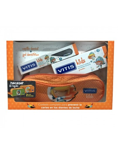 VITIS KIDS PACK GEL DENTÍFRICO + CEPILLO + NECESER