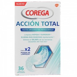 COREGA ACCION TOTAL TABLETAS LIMPIADORAS 36 UNIDADES