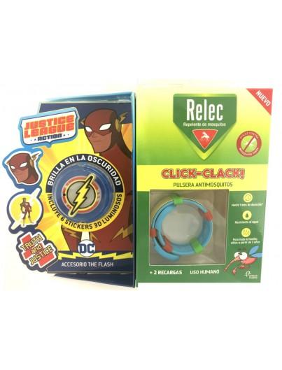 RELEC PULSERA CLICK CLACK FLASH REPELENTE DE MOSQUITOS INFANTIL
