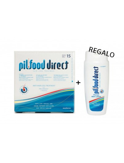 PILFOOD DIRECT TRATAMIENTO CAPILAR ANTICAIDA 15 AMPOLLAS + REGALO CHAMPÚ