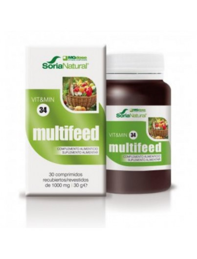 SORIA NATURAL MULTIFEED VIT&MIN 34 30 COMPRIMIDOS