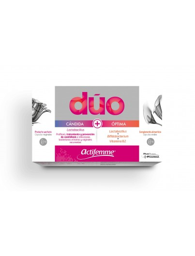 ACTIFEMME DUO CANDIDA VAGINAL + OPTIMA ORAL 10 CAPS VAGINALES + 14 CAPS ORALES