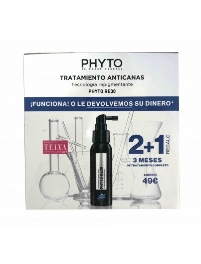 PHYTO RE30 TRATAMIENTO ANTICANAS 2 + 1 REGALO