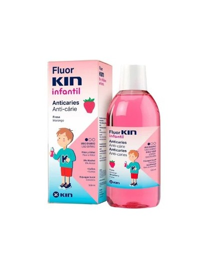 FLUOR KIN INFANTIL COLUTORIO FRESA 500 ML