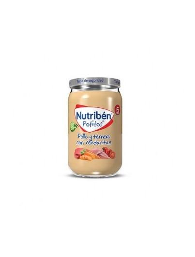 NUTRIBEN POTITO POLLO TERNERA Y VERDURITA 235 GRAMOS