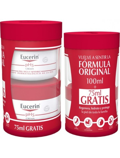 EUCERIN CREMA PIEL SENSIBLE PH-5 100 ML + 75 ML DE REGALO