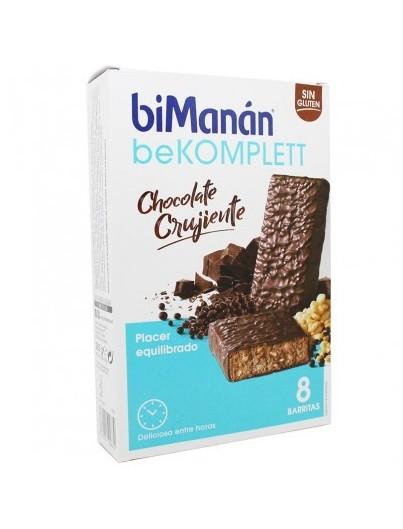BIMANAN BEKOMPLETT CHOCOLATE CRUJIENTE 8 BARRITAS + 2 BARRITAS GRATIS