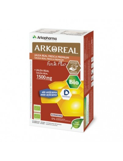 ARKOREAL JALEA REAL 1500 MG FORTE PLUS 2O AMPOLLAS