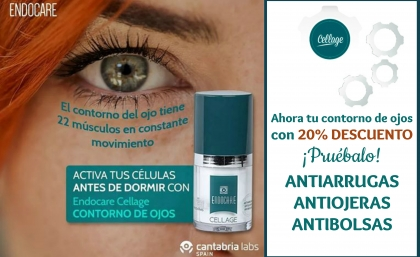 Tu contorno antiarrugas, antibolsas y antiojeras: ENDOCARE CELLAGE OJOS