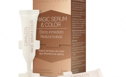 Reduce la apariencia de bolsas y ojeras en un instante con CAMALEON MAGIC SERUM & COLOR